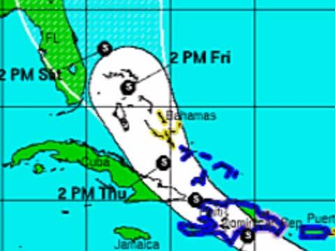 热带风暴香朵  周末侵袭美国东南部