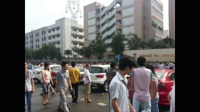 廣東萬士達數千人大罷工 抗議削減福利