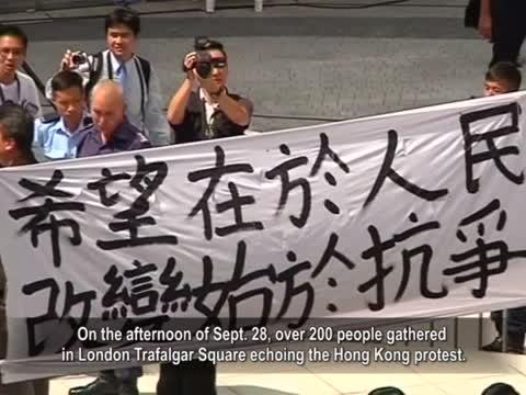 【禁聞】香港佔中如火如荼 全球發聲力挺