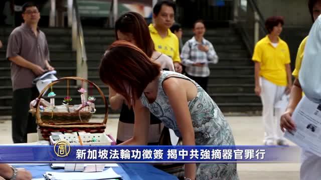 新加坡法輪功征簽