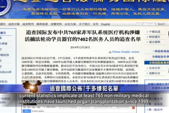 【禁闻】追查国际公布7千多嫌犯名单