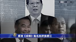 【禁聞】香港《成報》點名批評張德江